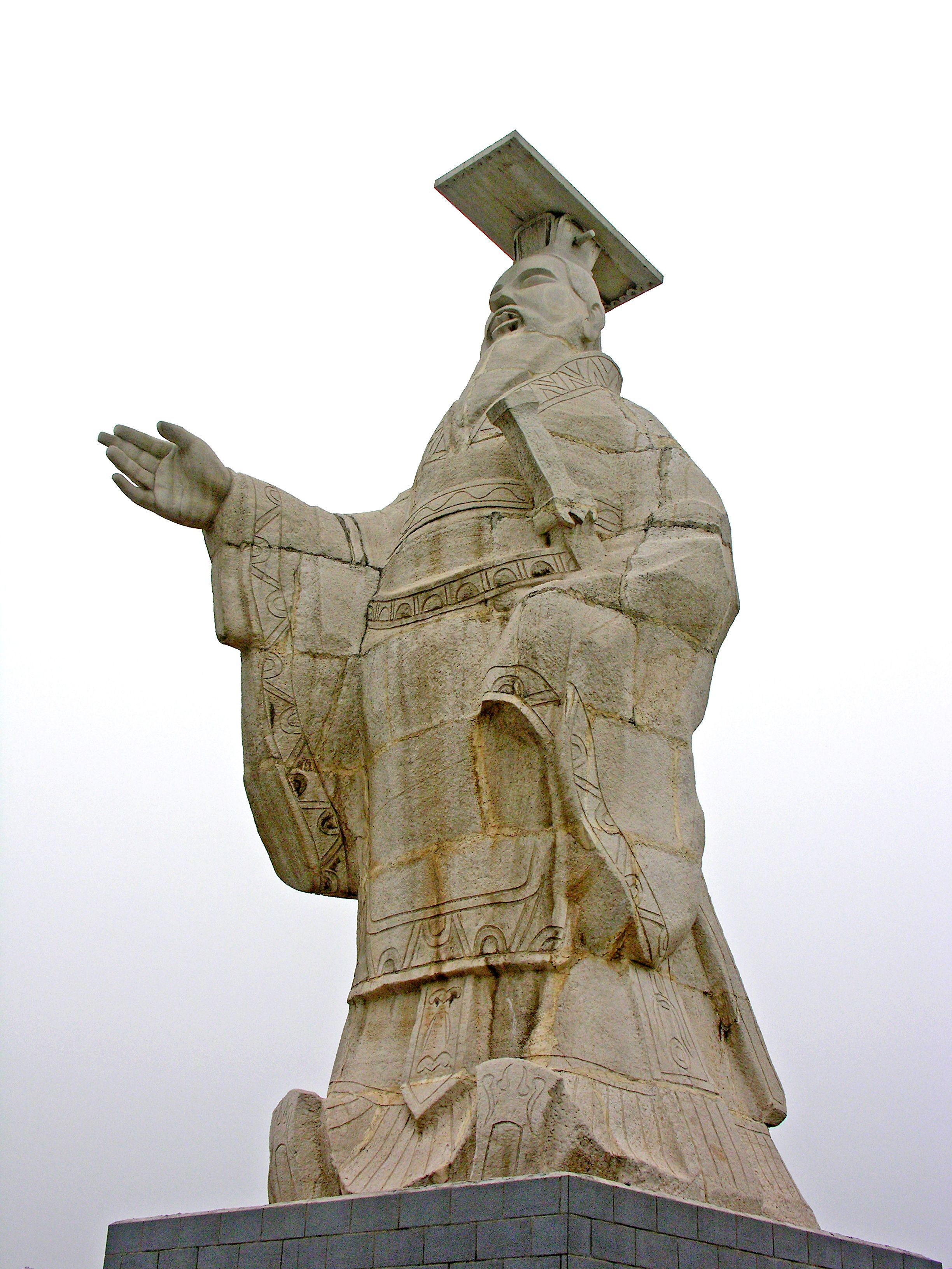 A statue of Shi Huangti (259-210 BCE, also known as Qin Shi Huang, Qin Shih Huandi, Shih Huan-ti) who was the first Emperor of a unified China. Xi'an, Shaanxi, China.