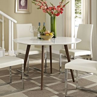 Shop For Canvas White Wood Dining Tableget Free Shipping At Enchanting Dining Room Furniture Outlet Stores Inspiration Design