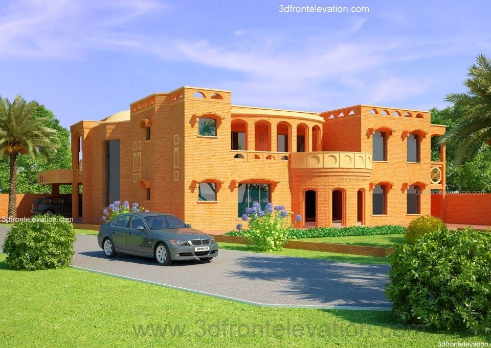 3d Front Elevation Lahore : D front elevation lahore kanal house design