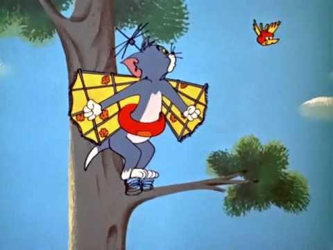 Still from the Tom & Jerry cartoon 'Landing Stripling ...