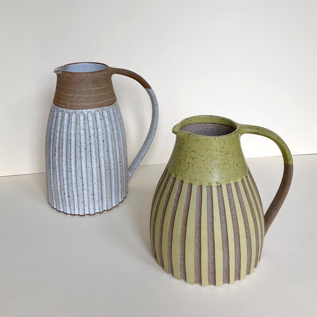 Jugs #potterslife #jugsofinstagram #studiopottery #pottersofinstagram #instapottery #pottery #ceramics #keramik #wheelthrown #shiplake #henleyonthames #oxfordshire #potterytechniques - sessizsakin190595