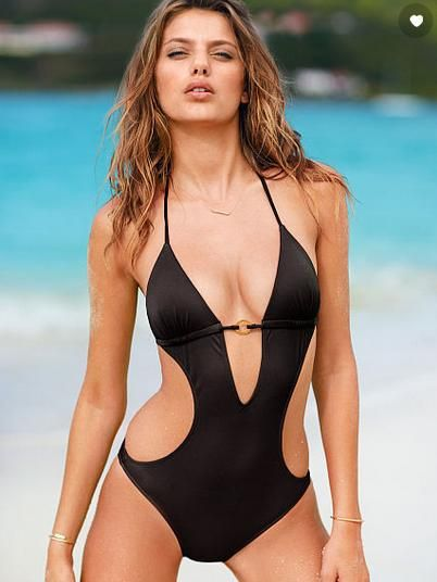 486032996a Aliexpress.com : Buy vs Sexy swimsuit with Low cut halter neck sexy one  piece swimwear womens swimsuit wholesale A01246 from Reliable One Pi.