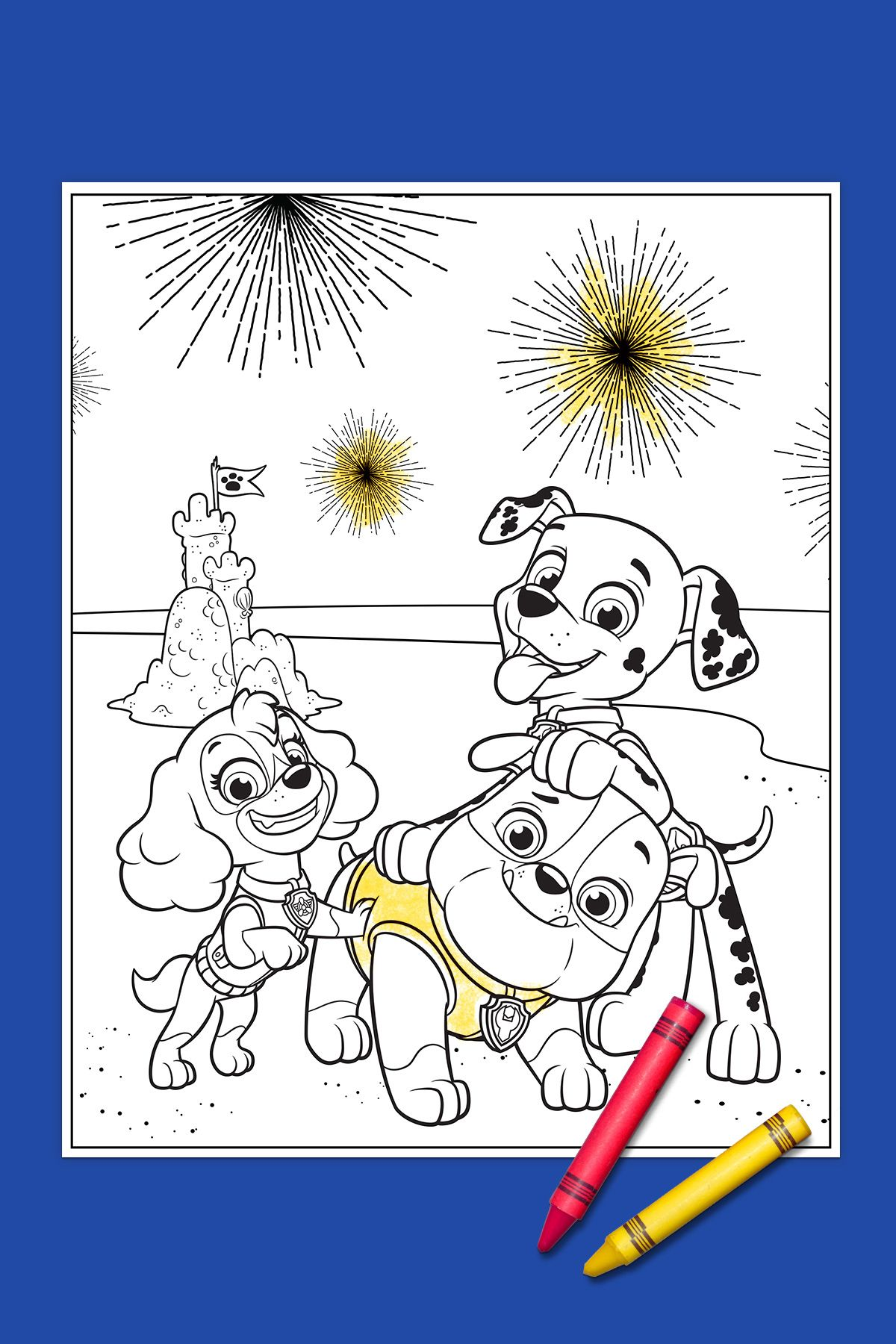 Your PAW Patrol 4th of July Coloring Page! | Paw patrol, Nick jr and ...