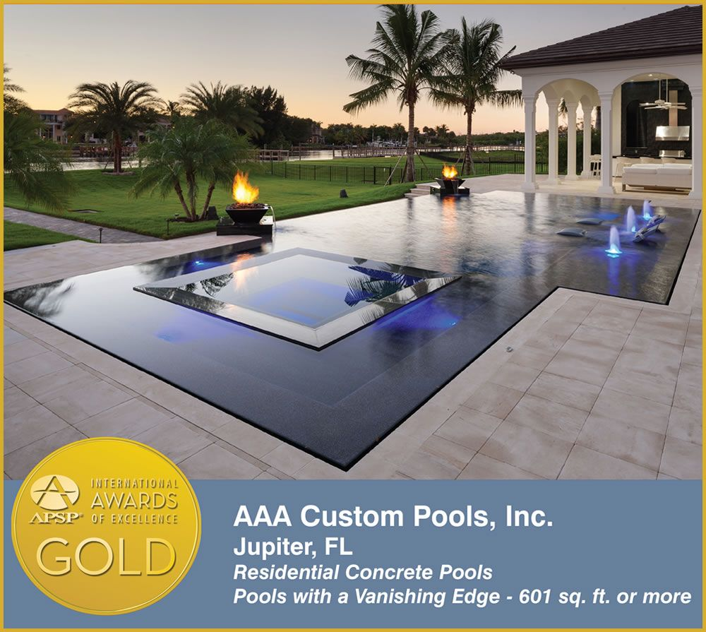 Ready to begin your outdoor living makeover? Browse our award winning pool gallery for inspiration  http://aaacustompools.com/awards-of-south-florida-custom-pool-designer.html #florida #pooldesigner #floridapooldesigner #flordiapooldesign #floridaoutdoorliving #outdoorliving