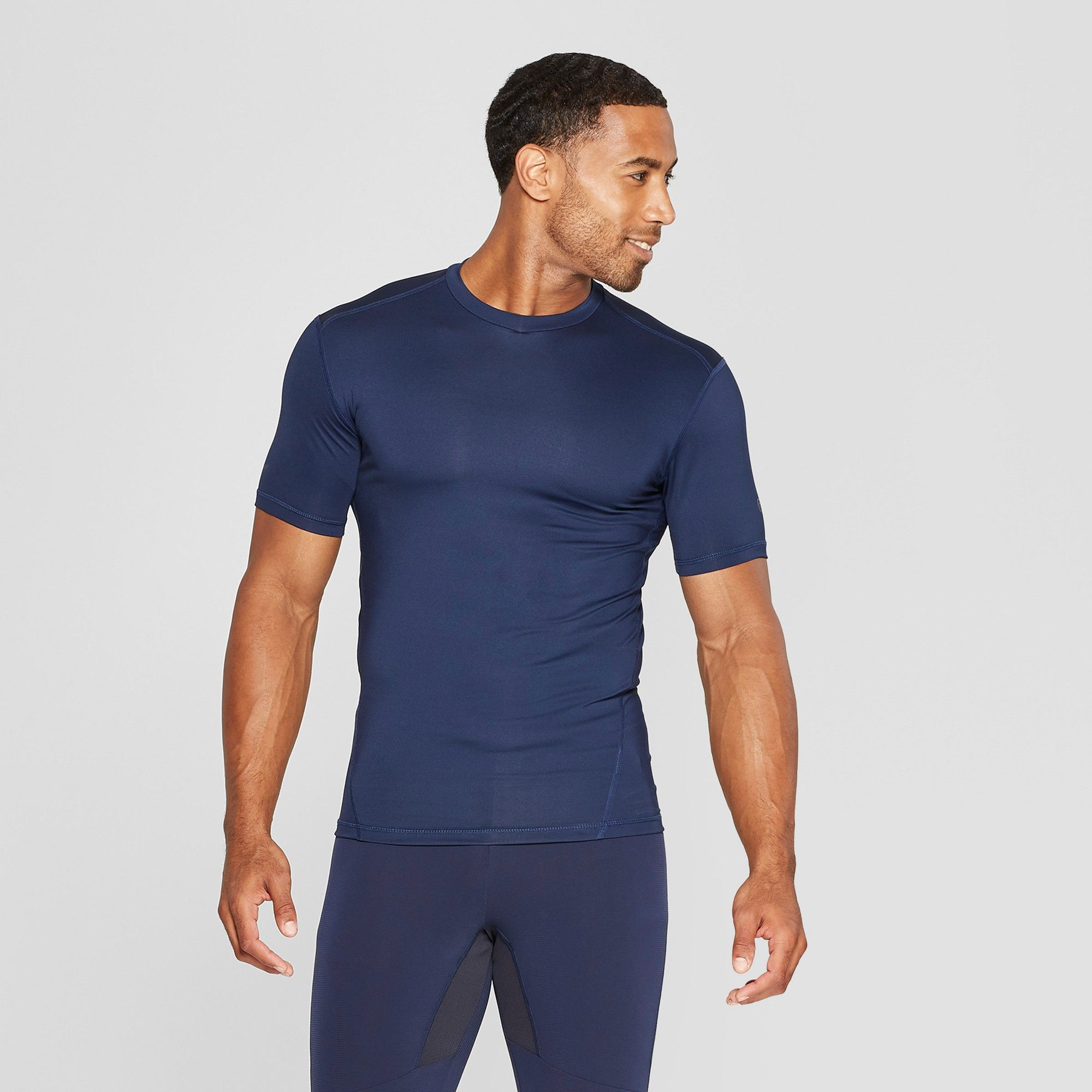 Mens fitted short sleeve compression tshirt c9