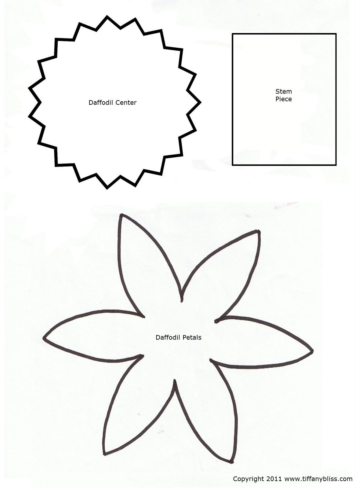6 Images Of Daffodil Template Printable Pattern Flower Templates Printable Flower Template Flower Petal Template