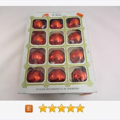 Red #Noelle Glass #Ornaments Set of 12 #Christmas #gotvintage #vintage http://buff.ly/2bIgywb