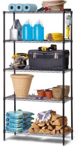 Shelving-Rack-Racks-Shelf-Shelves-Garage-Storage-Organizer-Utility-5-Wire-Tier