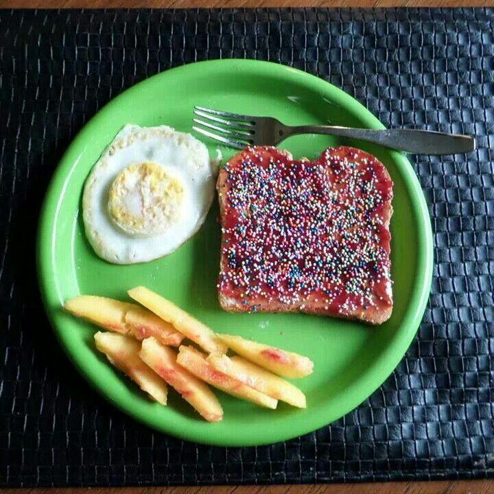 Sprinkle toast