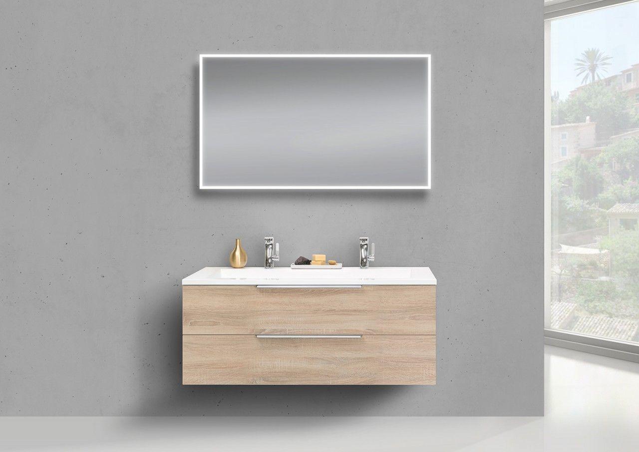 Intarbad CUBO Design Badmöbel Set 120 cm Doppelwaschtisch Jetzt ...