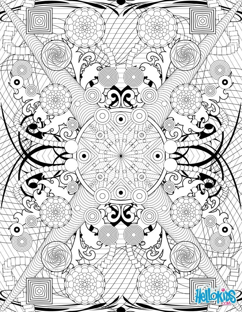 intricate mandala coloring pages free - photo#49