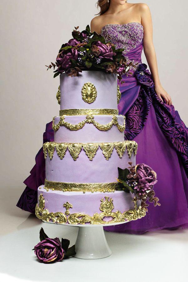 purple gold wedding cake - Поиск в Google | свадьба | Pinterest ...