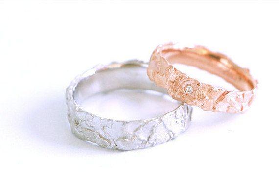 Wedding set,Fairmined red gold 18k,Fairmined white gold,Ethicaly mined diamond,Fair trade wedding set,Sustainable wedding,Ethical love
