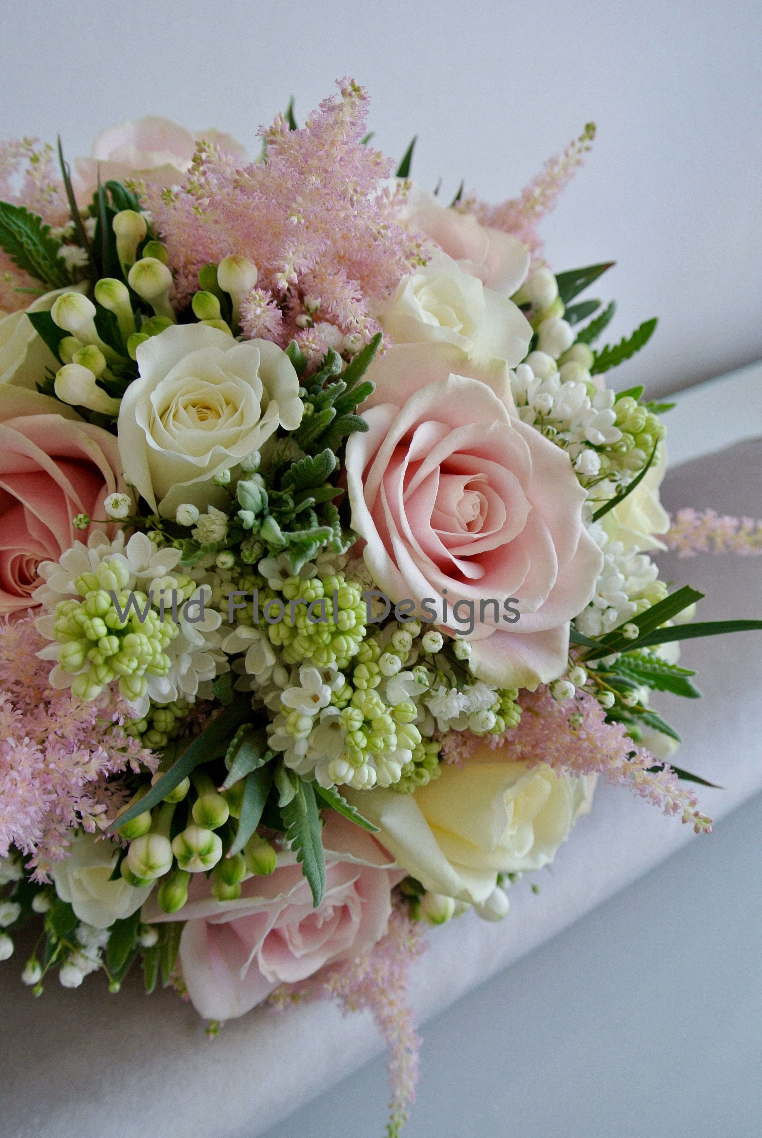 Pink and white brides bouquet roses lilac bouvardia gyp and pink and white brides bouquet roses lilac bouvardia gyp and astilbe izmirmasajfo