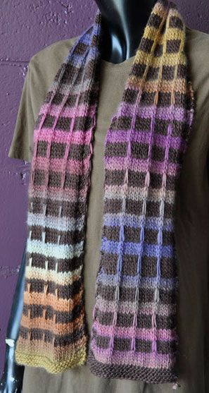 Mochi Plus Funky Plaid Scarf | Free Knitting Patterns (Scarves ...