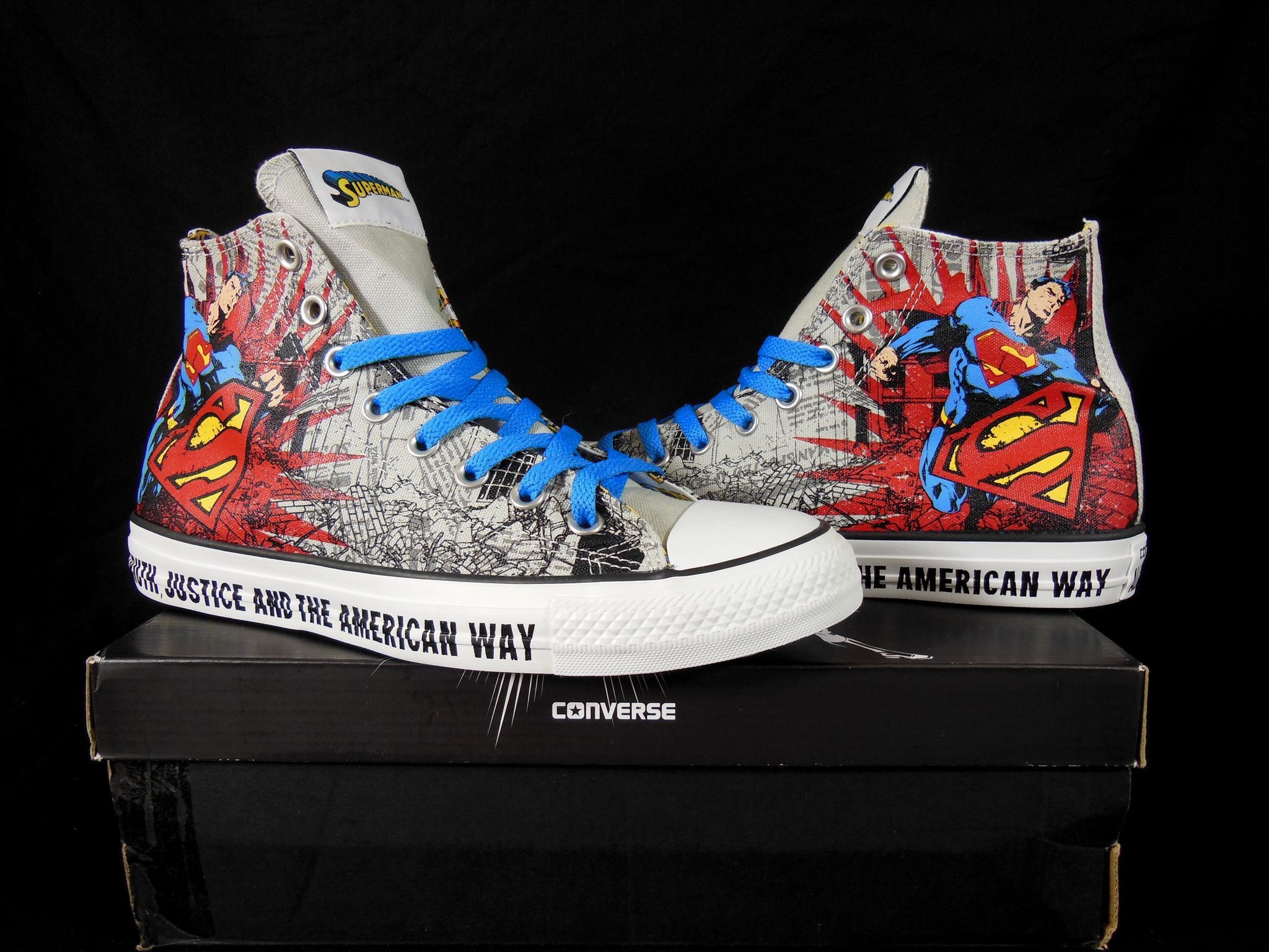 765ee15d735e37 Converse SUPERMAN   MAN of STEEL All Star Chuck Taylor DC Comics Kicks    Sneakers