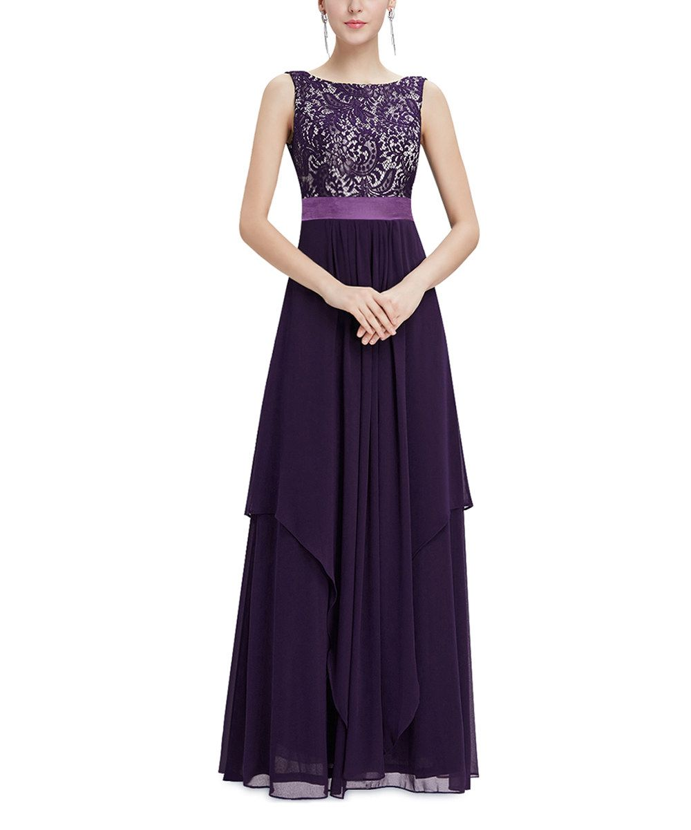 Look at this deep purple laceembroidered gown on zulily today