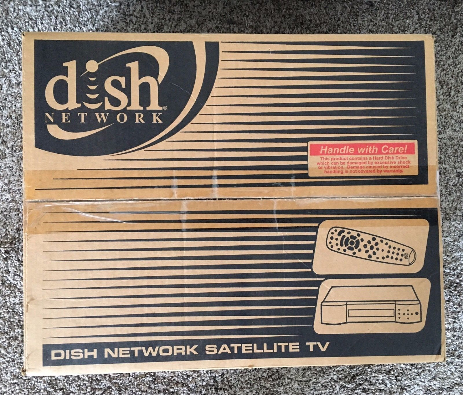 2003 Dish Network packaging box, featuring the DishPVR 721/Dish Player-DVR  522 receiver. I really loved the design of the box, especially Dish  Network's ...