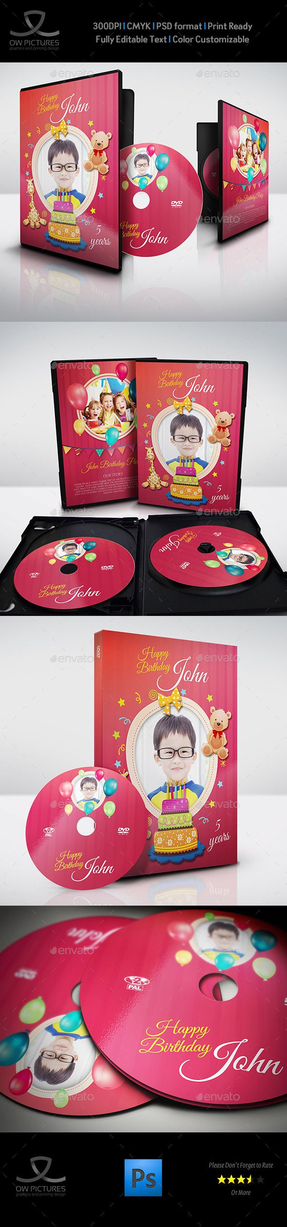 Birthday Party Dvd Template Vol  Template Birthdays And Cd