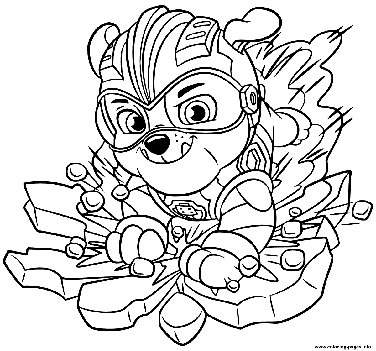 Print Mighty Pups Rubbles Coloring Pages Paw Patrol Coloring Paw Patrol Coloring Pages Coloring Pages