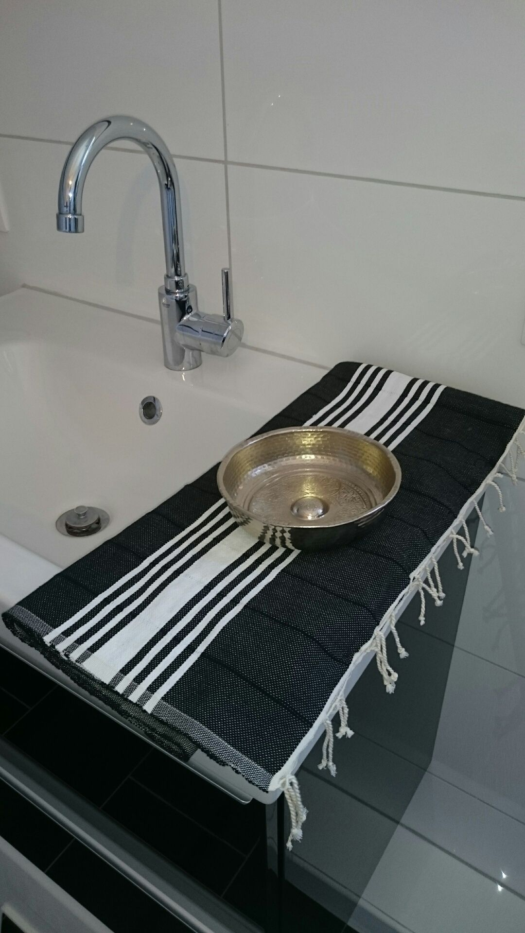Orange badezimmerdekor bath decoration badezimmer bad deko mit hamamzubehör pestemal
