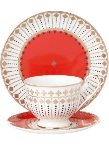 Royal Pembroke Edwards Fine Bone China Red Tea Set New From House Of Fraser 15