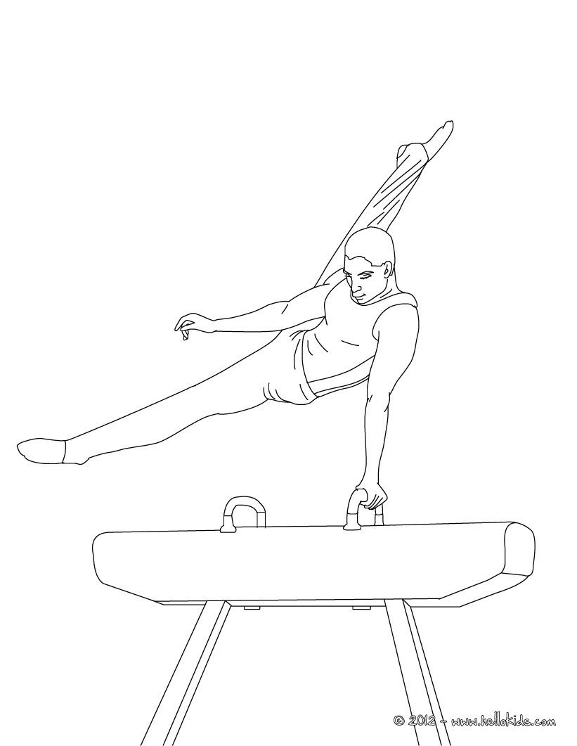 color online sport gymnastics coloring pages pinterest