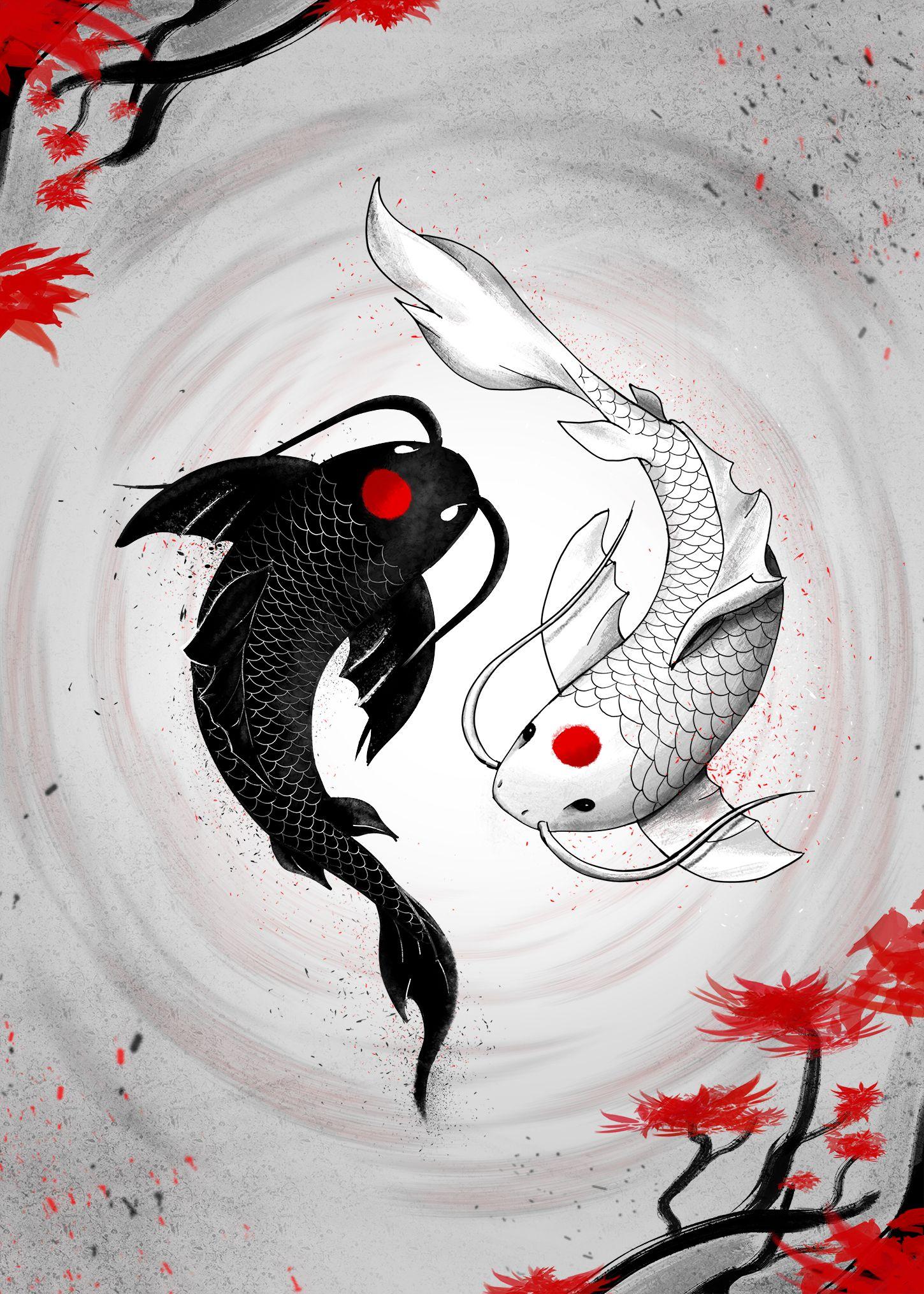 Japanese Koi Fish Vision Poster By Geek Zen Displate Koi Art Koi Fish Drawing Japanese Art