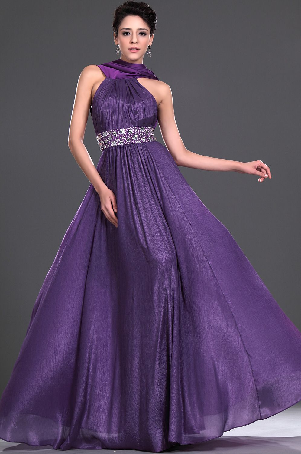 Robe se soire robes pinterest robe a line jewel court train chiffon purple military ball dress with beading ombrellifo Image collections