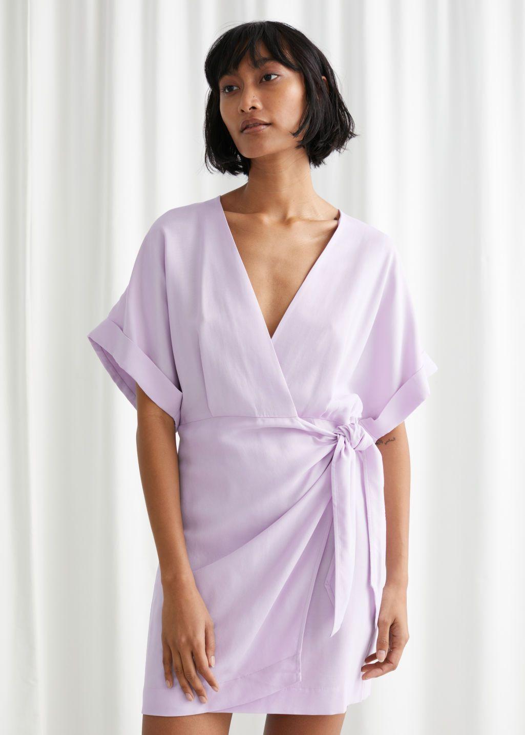 Relaxed Wrap Mini Dress