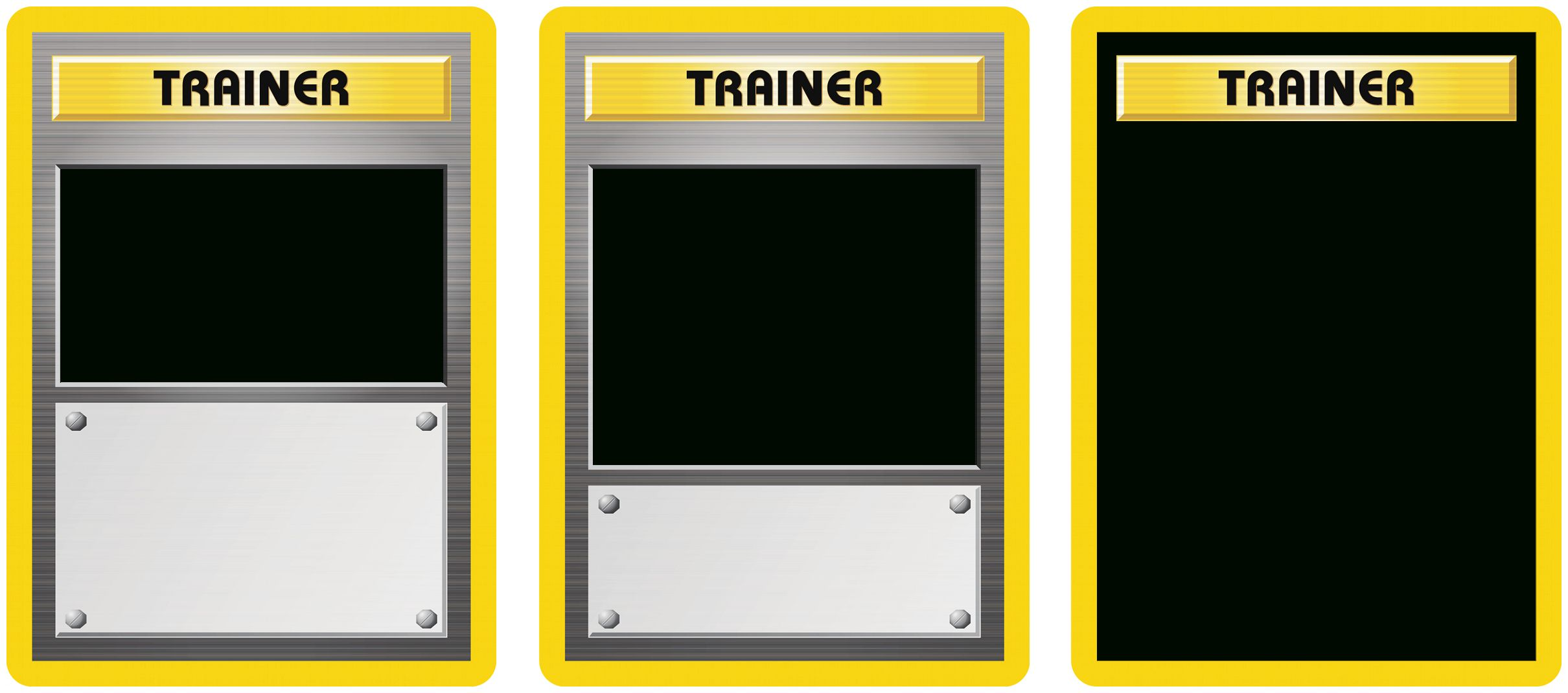 Classic Trainer With Expanded And Full Art Blanks For Pokemon Trainer Card Template Cumed Org Pokemon Trainer Card Pokemon Trainer Card Template