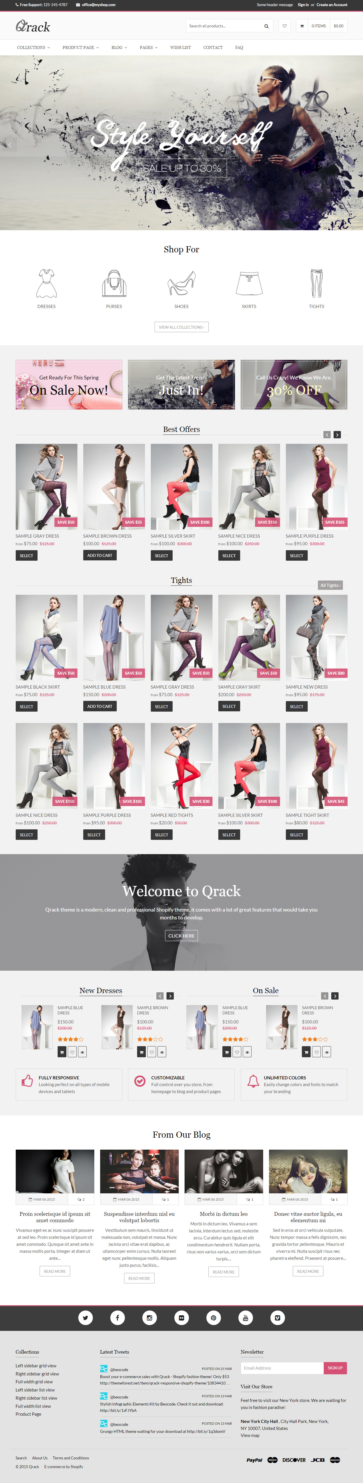 This parallax OpenCart theme includes RTL support, a responsive ...