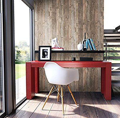 Holz Tapete Vlies Beige Braun Grau Edel schöne edle Tapete im - moderne bilder fürs wohnzimmer