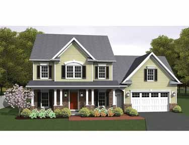3 story colonial house plans. Floor Plans AFLFPW75153 - 2 Story Colonial Home With 3 Bedrooms, Bathrooms And 1,775 House H