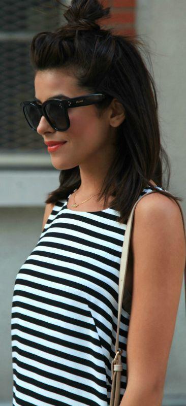 Cute mid length simple hair style
