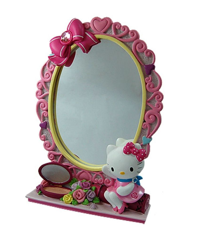 Kt Design Resin Table Mirror Pink Color Decoration Good As Gift Amp Daily Use Office Decor