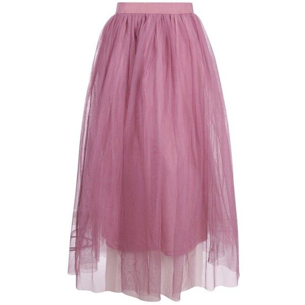 fef01bd12d28 Boohoo Tall Emily Boutique Tulle Mesh Midi ($35) ❤ liked on Polyvore  featuring skirts, knee length tulle skirt, embellished skirt, mesh mini  skirt, ...