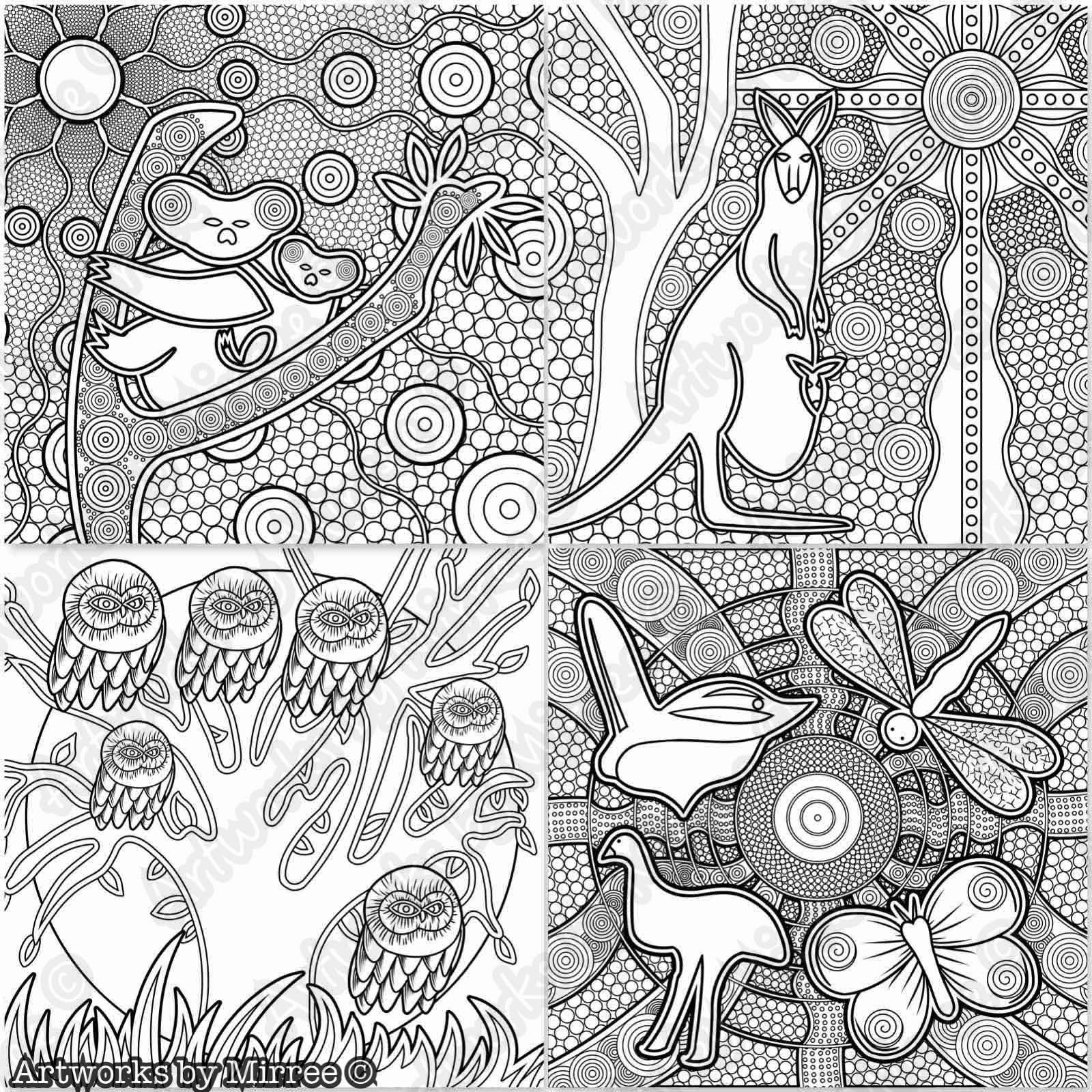 Universal Dreaming Colouring Book Colouring Book By Mirree Contemporary Dreamtime Animal Series Aboriginal Dot Art Coloring Books Aboriginal Art Australian