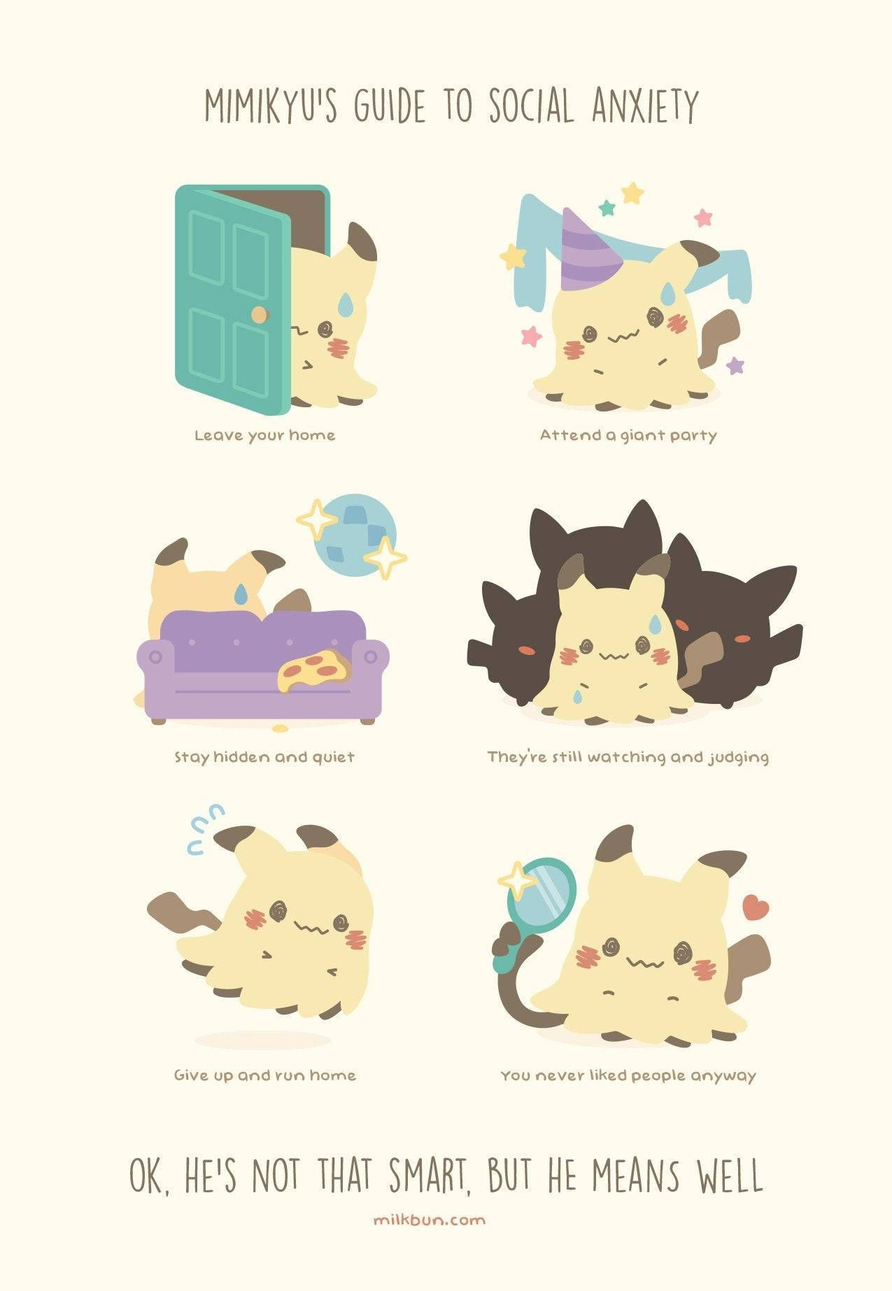 "Milkbun created a set of pins based on her ""guide to"" Pokemon comics -"