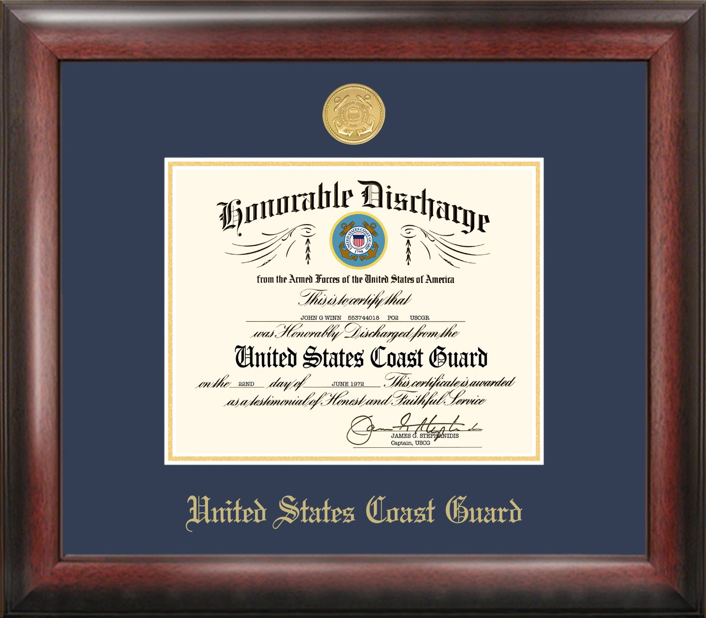 Patriot Frames Has Created Fine Quality Gold Embossed Frame For Your