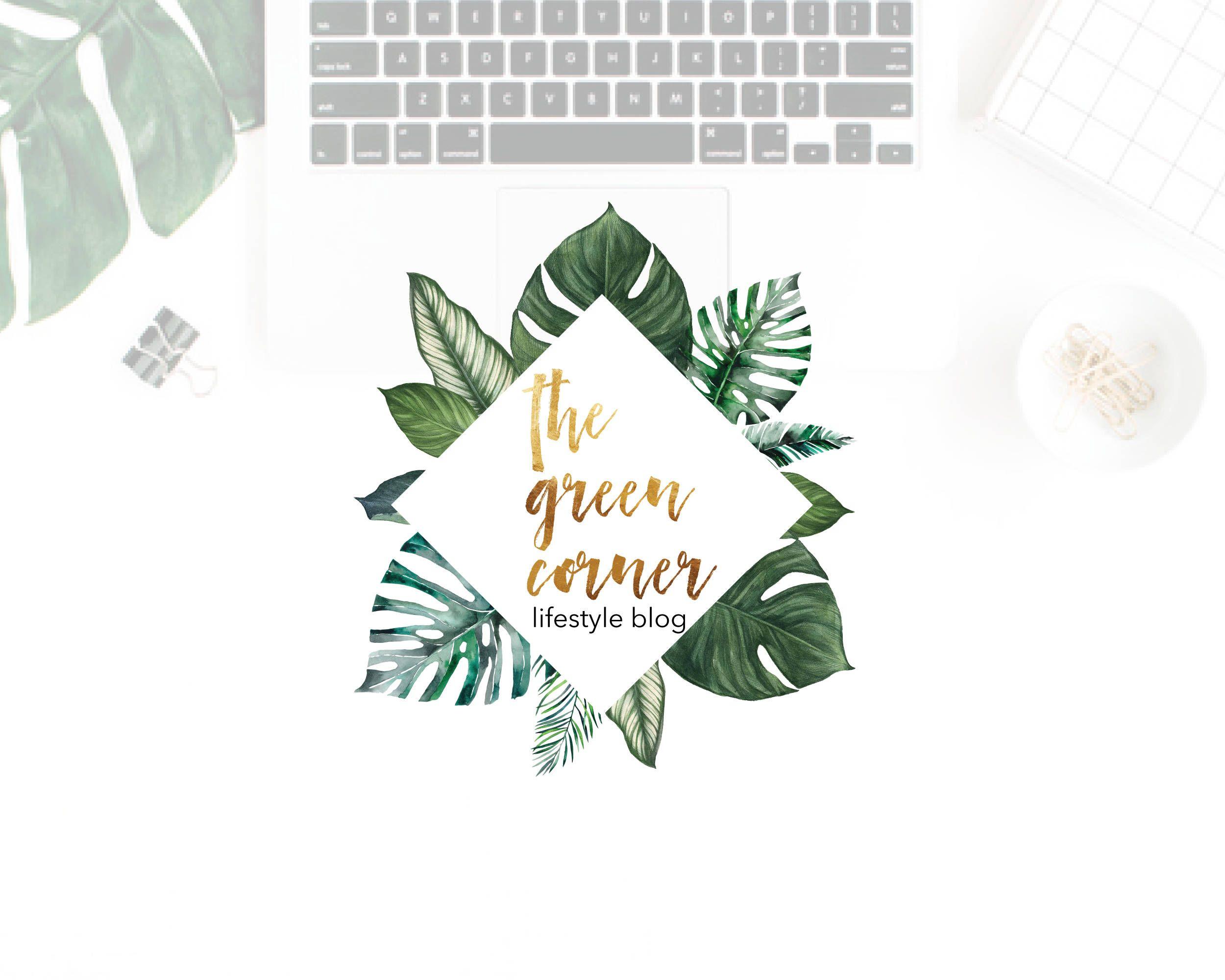 Tropical Leaves Monstera Logo Design, Palm logo, Tropical