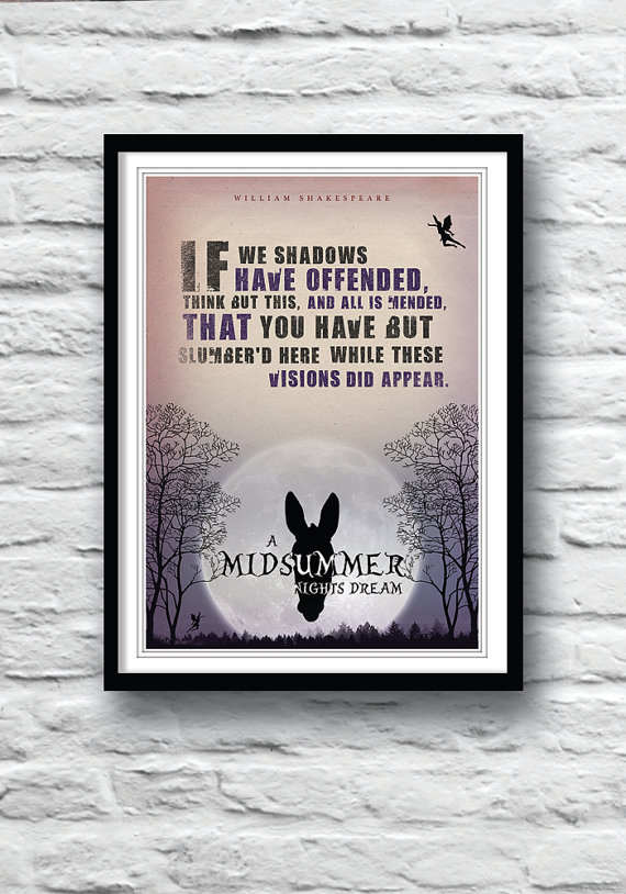 Literary quotes wall decor