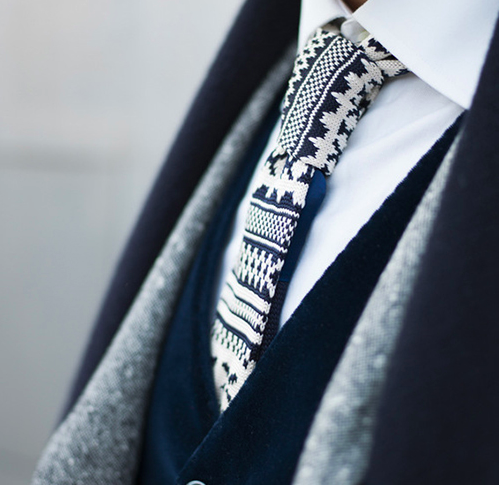 Fair Isle Knit Tie | Knitted Ties | Pinterest | Knit tie, Fashion ...