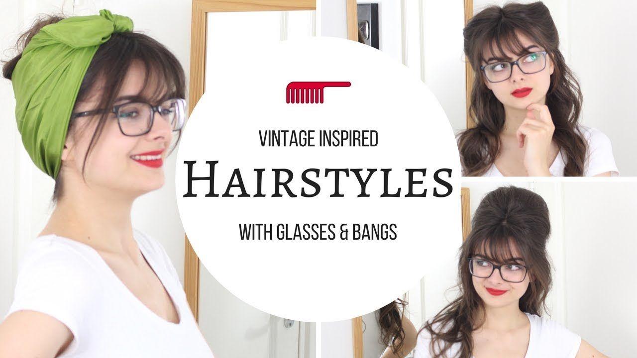 Vintage inspired hairstyles with glasses cute u easy hair