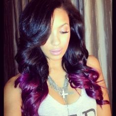 black and hot pink ombre hair - Google Search