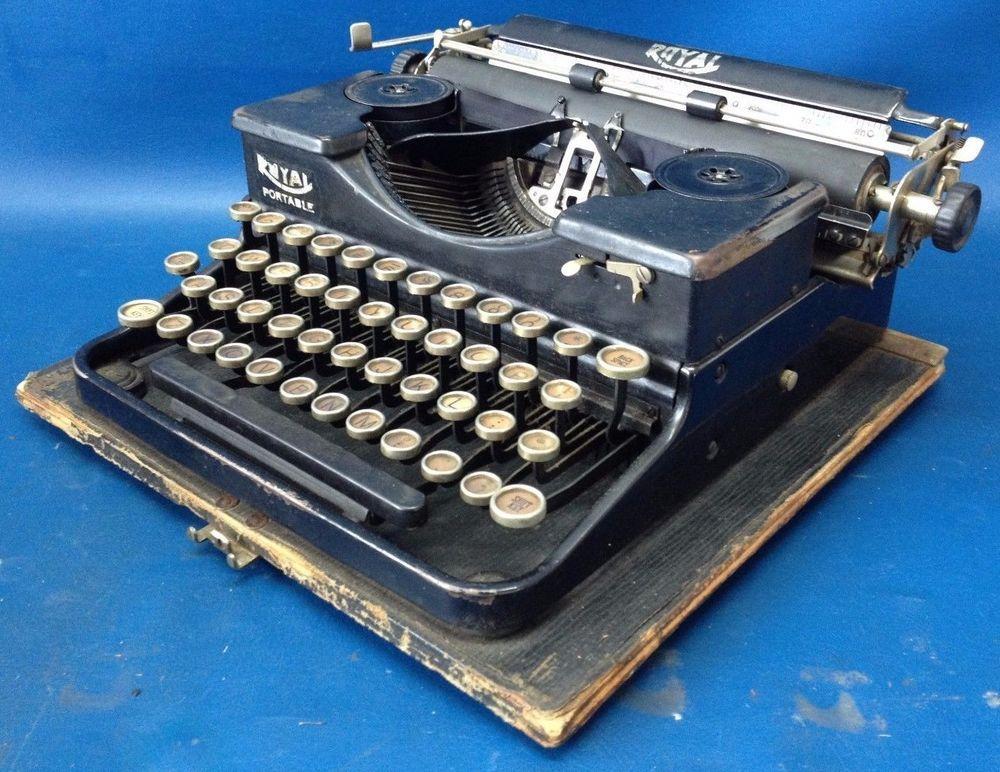 Vintage Royal Portable Typewriter Part - 41: Vintage -- Royal Portable Typewriter -- Working Condition!