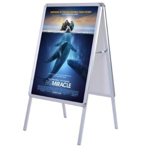 portable a frame display snap board