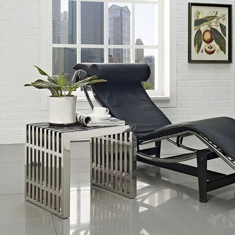 Modway Furniture - Gridiron Small Stainless Steel Bench