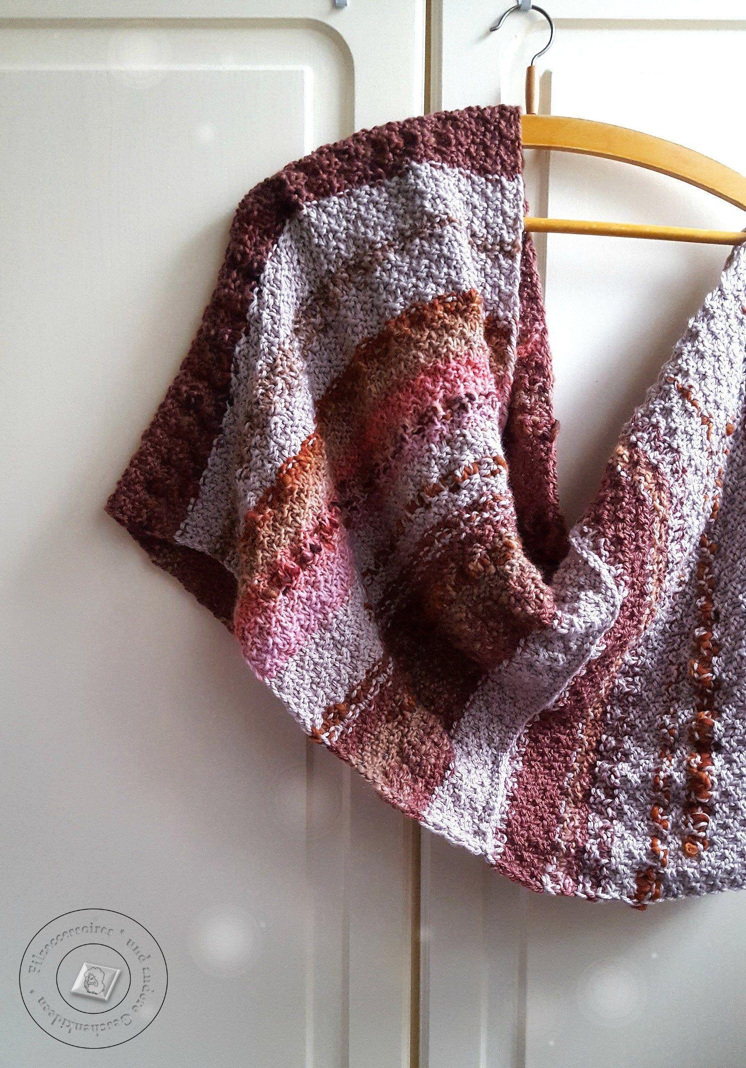 Photo of Kaltes Wetter Accessoires, handgefertigte Wolle grob gestrickten Damen Kreis Schal, warm in …