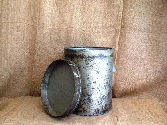 Vintage Hardware store bolt can. Hand welded. Used to hold hundreds of bolts.